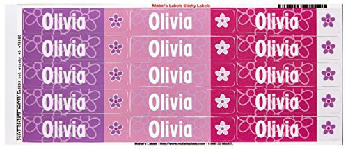 Mabel'S Labels 40845187 Peel And Stick Personalized Labels With The Name Olivia And Flower Icon, 45-Count front-544325