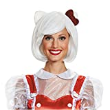 Disguise Women's Hello Kitty Adult Costume Wig, White, One Size
