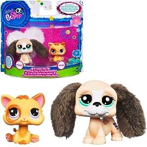 .com: Littlest Pet Shop Cutest Pets Figures Beagle Cat: Toys & Games