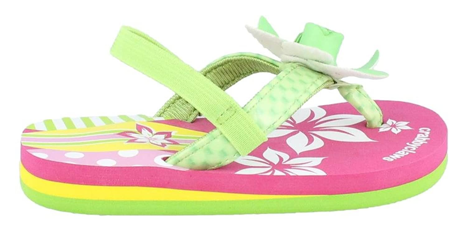 Crabbyclaws Girl's Surfboard (Toddler/Little Kid/Big Kid) Lime Patent Sandal 7/8 Toddler M