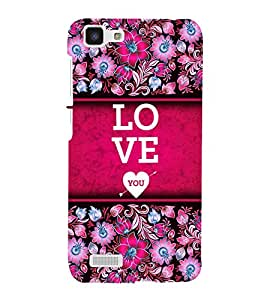 Love You Design 3D Hard Polycarbonate Designer Back Case Cover for VIVO Y27L :: Y 27L