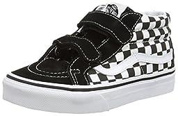 Van\'s Toddler\'s/Kid\'s SK8-Mid Reissue V Shoes (Checkerboard) Black/True White (2 US Kid\'s)