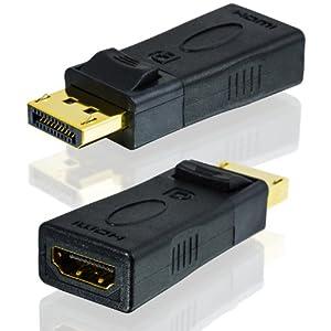 Displayport zu HDMI Adapter, Full HD 1080p, inkl. Audio-Übertragung