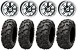 ITP SS216 14″ Wheels Machined 28″ Blackwater Tires Can-Am Commander Maverick Renegade Outlander