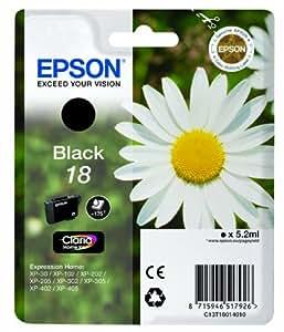 Epson 1818873 Pâquerette 18 T1801 Cartouche d'encre 5.2ml 175 pages Noir
