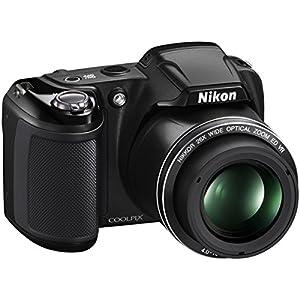 Nikon COOLPIX L320 16MP 720p HD Video Black Digital Camera (Certified Refurbished)