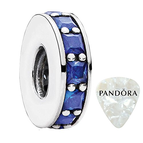 Eternity, Royal-Blue Crystal Charm, Two Piece Bundle, with Pandora Clasp Opener