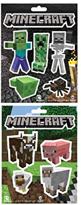 Minecraft Animals Monster Sticker Pack Set Of 2 by Jinx
