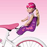 "Doll Bicycle Seat ""My Life As"" Bike Seat Set Purple Seat And Pink Helmet (Fits American Girl And Standard Sized..."