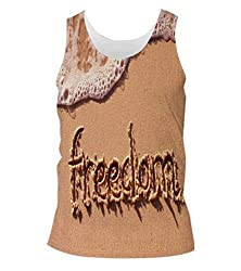 Snoogg Freedom Mens Casual Beach Fitness Vests Tank Tops Sleeveless T shirts