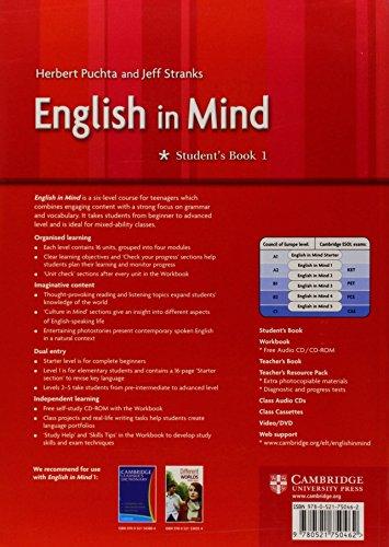 English in mind. Student's book. Ediz. internazionale. Per le Scuole superiori: English in Mind 1 Student's Book