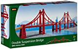 BRIO BRI-33683 Rail Double Suspension Bridge