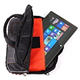 DURAGADGET Hardwearing Shoulder Bag With Multiple Storage Compartments Suitable For The Microsoft Surface RT / Pro & Surface 2 / Pro 2 (Windows 8 RT, 32GB, 64GB, 128GB, 256GB Tablet)