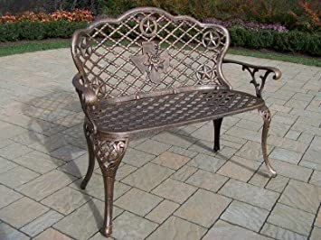 Oakland Living Texas Cast Aluminum Rose Loveseat - Antique Bronze