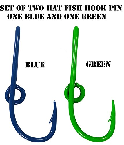Custom Colored Eagle Claw Seahawks inspired Team Spirt Navy/Green Hat Fish Hook Pins One Navy and One Green Hat Hook Clip (Custom Seahawks Hat compare prices)
