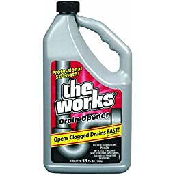 The Works Drain Opener Professional Strength 64 Fl. Oz.