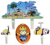 Despicable-Me-Beach-Party-DecoSet-Cake-Decoration