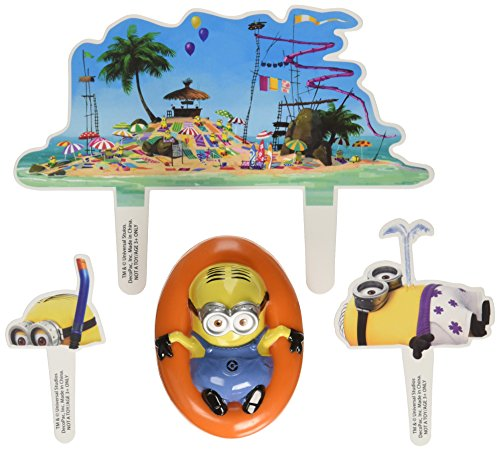 Despicable-Me-Beach-Party-DecoSet-Cake-Decoration