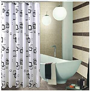 Eforgift 72 Inch By 78 Inch Modern Magic Cube Pattern Curtain Polyester Waterproof