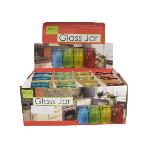 Findingking Colored Glass Jar Display 96pcs