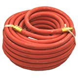 Air Hose (Rubber) 3/8in. Id 15m (50ft) (3/8in. Bsp Connectors) X Pack Of 6
