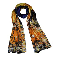 Dahlia Women's 100% Silk Scarf - Van Gogh