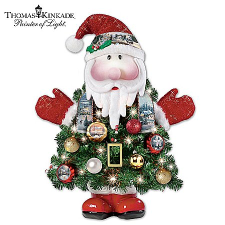 Thomas Kinkade Ho-Ho-Home For The Holidays Pre-Lit Christmas Tree by The Bradford Exchange