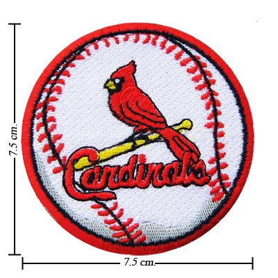 St Louis Cardinals Baseball Style-2 Embroidered Iron On Patch at Amazon.com