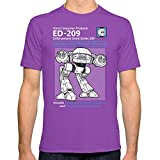 Society6 Men's Ed-209 Service And Repair Manual T-Shirt 2X-Large Ultraviolet