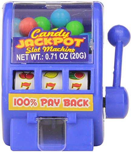 Kidsmania Candy Jackpot Slot Machine Candy Dispenser, 0.7-Ounce Candy-Filled Dispensers (Pack of 12) (Candy Toy Dispenser compare prices)