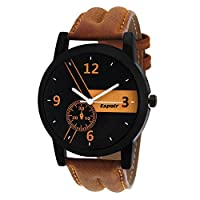 Espoir Casual Analogue Tan Leather Strap Multicolour Dial Men's Watch - Kranti0507