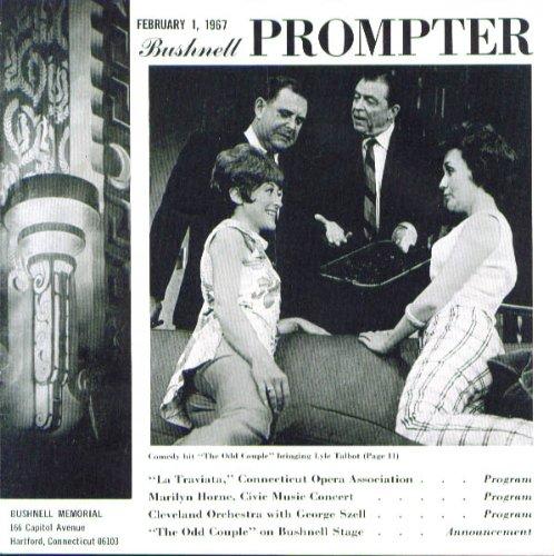 Traviata Marilyn Horne Odd Couple Bushnell Program 1967
