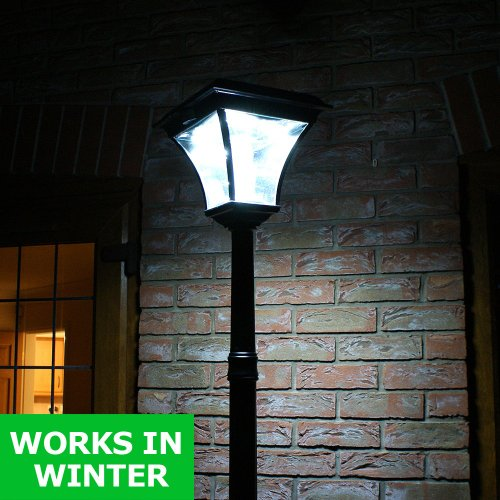 SuperSolar™ Premium White Large Lamp Post