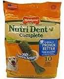 Nylabone Nutri Dent Medium Chicken Flavored Bone Dog Treats, 10 Count