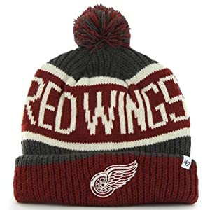 """Amazon.com : Detroit Red Wings """"Calgary"""" Beanie Hat with"""