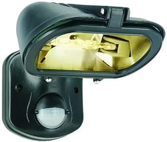 Elro ES128 Projecteur Eco-Halogène Noir 120 W avec Détecteur de Mouvement