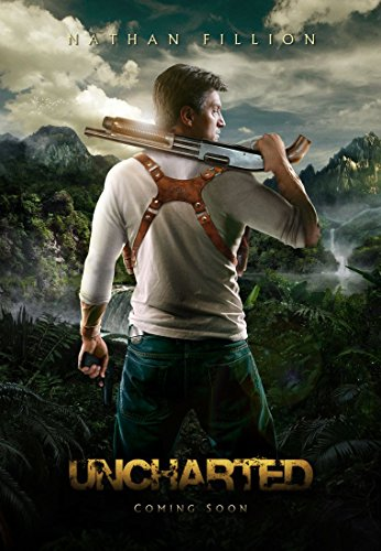 Uncharted Drakes Fortune film poster 70x 44cm