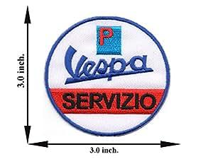 Amazon.com: Vespa Servizio Logo Scooter Biker Motorcycle