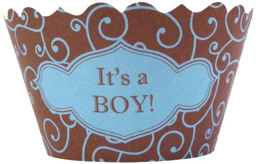Bella Couture Mini It'S A Boy Cupcake Wrappers