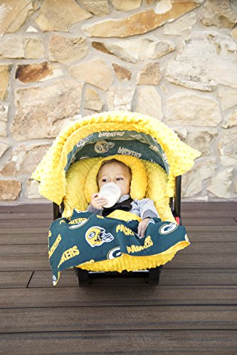 NFL Green Bay Packers The Whole Caboodle 5PC set - Baby Car Seat Canopy with matching accessories - 1