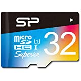 Silicon Power 32GB R/W 90/45MB MicroSDHC UHS-1 Class 10, Superior Flash Memory Card with Adaptor (SP032GBSTHDU1V20SP)