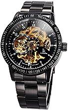 Comprar Alienwork IK Reloj Automático esqueleto mecánico Acero inoxidable negro negro 98226-07