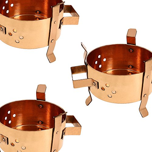 Traditional indian copper food warmer tabletop burner for Angeethi authentic indian cuisine