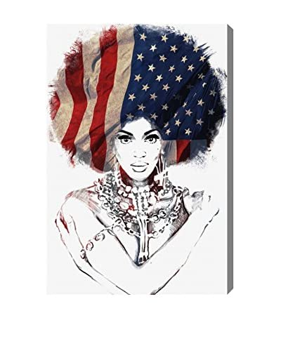 "Oliver Gal ""American Woman"" Canvas Art"
