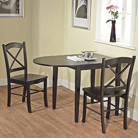 Tiffany 3 Piece Dining Set Finish: Black