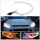 #5: Andride 2X Tube Audi Style White-Amber Switchback Headlight Led Strip Drl Daytime Light 60 Cm