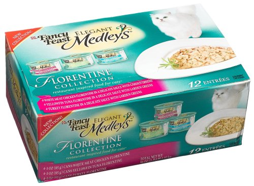 Fancy Feast Elegant Medleys for Cats, Florentine Collection, 3-Ounce Cans (Pack of 24)