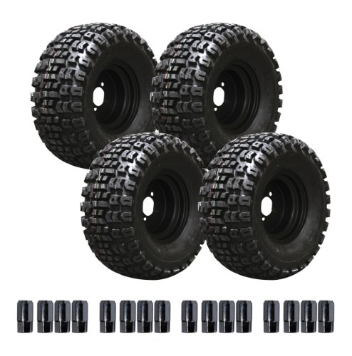 E-Z-Go 750191Pkg 22-Inch Terra Trac Tire With 10-Inch Black Steel Wheel Package