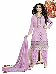 Patiyala Pattern!!! Light Pink Color Dress Material