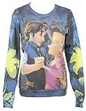 Tangled (Disney) Girls Juniors Sweatshirt - Dancing Duo All Over Image
